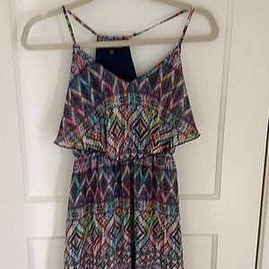 EUC maxi dress in bright colors